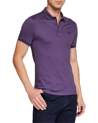 Men's Tipped Cotton Jersey Polo Shirt