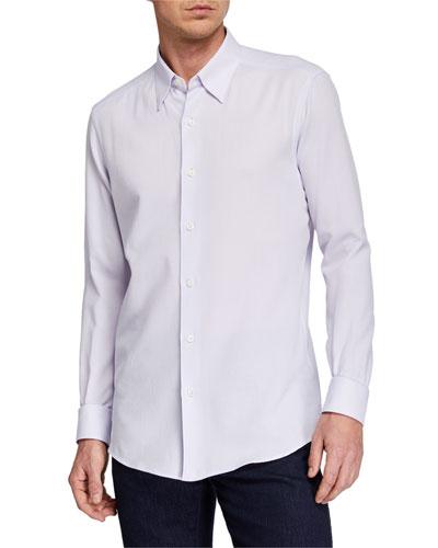 Men's Solid Sport Shirt, Purple