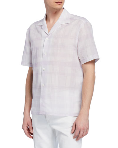 Men's Plaid Short-Sleeve Sport Shirt