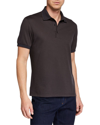 Men's Silk-Blend Polo Shirt