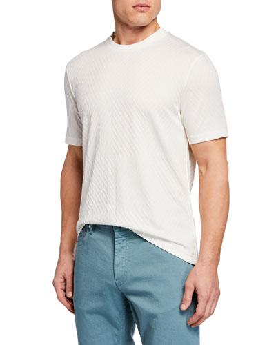 Men's Crewneck Jacquard T-Shirt