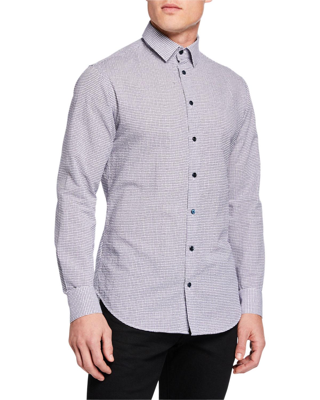 Giorgio Armani T-shirts MEN'S MICRO-GRAPH COTTON SPORT SHIRT