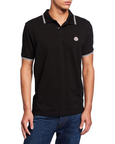 Men's Contrast Stripe Polo Shirt