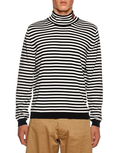 Men's Striped Turtleneck Sweater