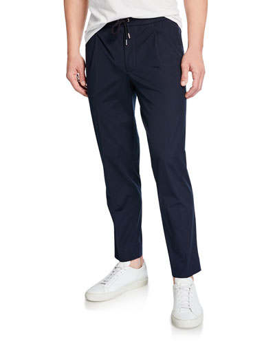 Men's Pleated-Front Trouser Pants