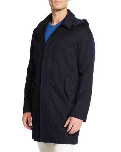 262076f6c52 Men s Raindrop Urban Cashmere Velvet Drape Storm Coat