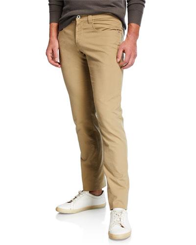Men's Cotton Comfort Slim-Fit 5-Pocket Pants