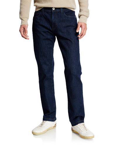 Men's 5-Pocket Straight-Leg Denim Jeans