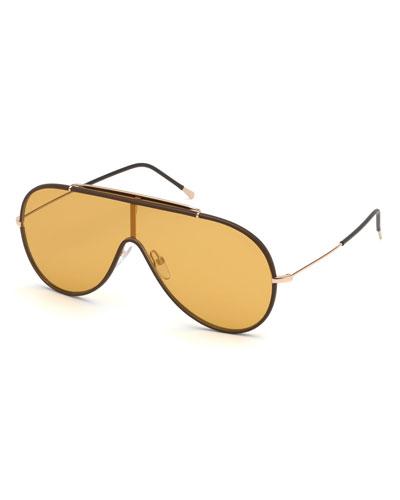 f97d1faba3e Tom Ford Metal Frames Sunglasses. Men s Mack Shield Metal Sunglasses