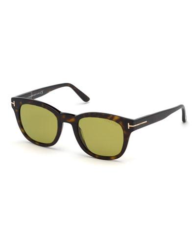 Men's Eugenio Square Plastic Sunglasses