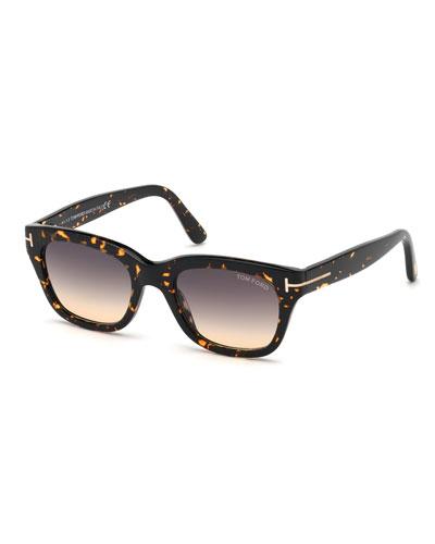 Men's Snowdon Square Plastic Gradient Sunglasses