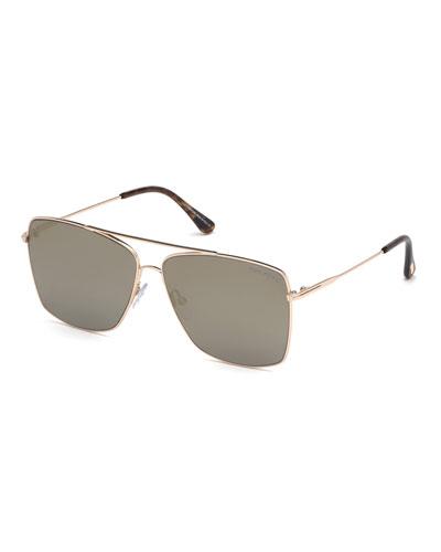 Men's Magnus Rose Golden Metal Sunglasses