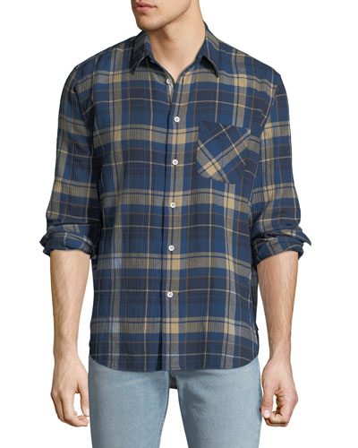 Men's Fit 3 Plaid Beach Sport Shirt