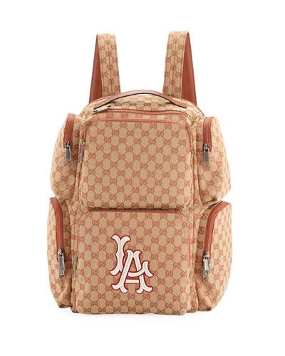 Men's Large Original GG Backpack with LA Angels MLB Applique