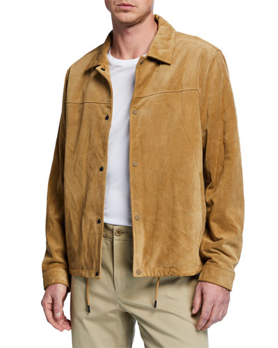 Men's Suede Coaches Jacket