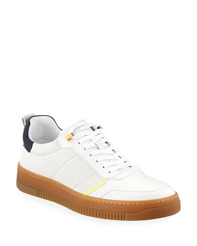 Men's Dome Leather Low-Top Sneakers