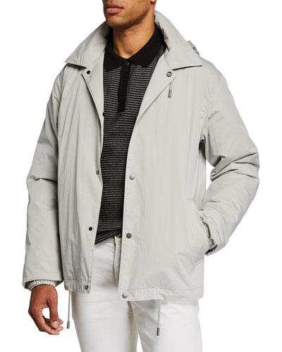 Men's Hooded Cotton Coach Jacket