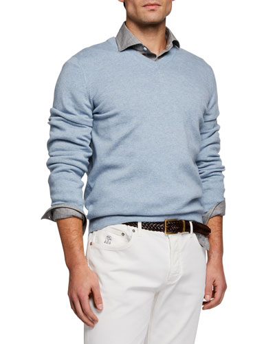 8e86d7e953b6 Men s Cashmere V-Neck Sweater