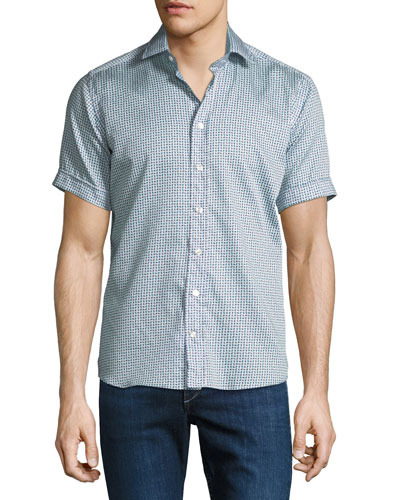 Men's Graphic Short-Sleeve Sport Shirt