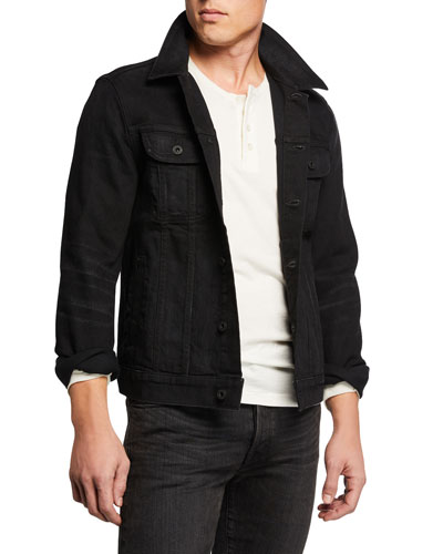 Men's Comfort-Stretch Trucker Denim Jacket