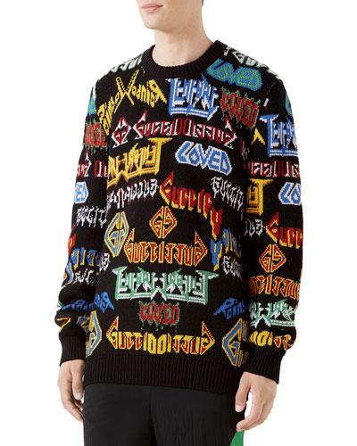 d362e501f Men's Medley Logo Intarsia-Knit Sweater