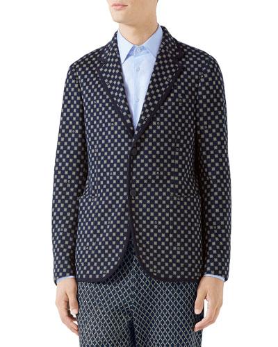 Men's Interlocking Logo Two-Button Jacket