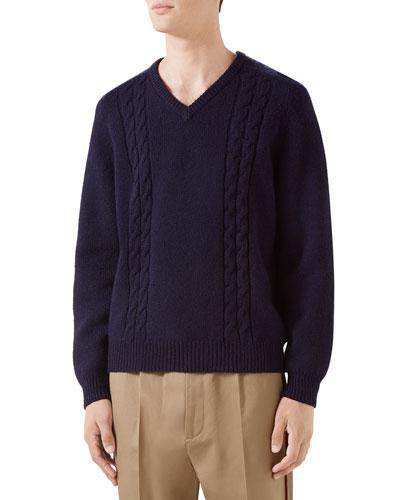 99b96d6165 Men s Cashmere Cable-Knit Sweater