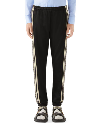 Men's Cut-And-Sewn GG-Logo Track Pants