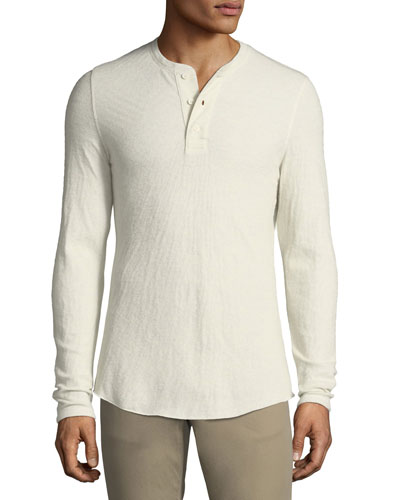 Men's Double-Knit Henley Shirt