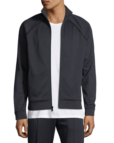 Men's Solid Jersey Track Jacket