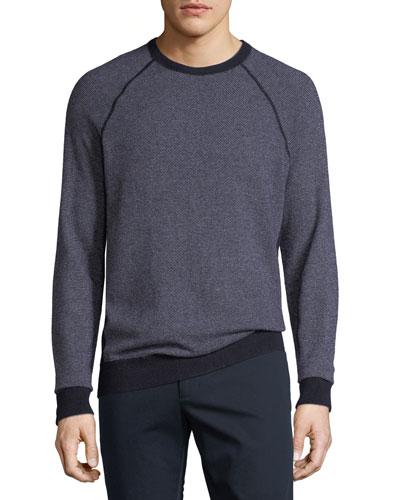 Men's Birdseye Crewneck Sweater
