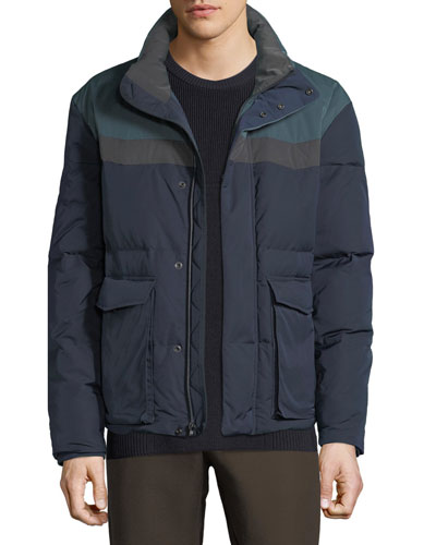 Men's Colorblock Puffer Coat