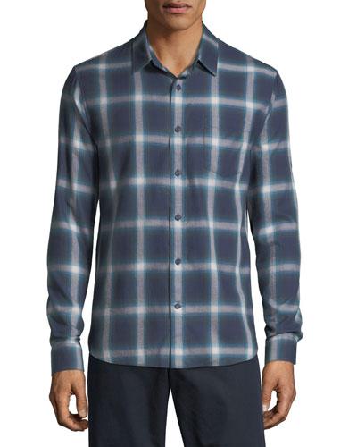 Men's Shadow Plaid Sport Shirt