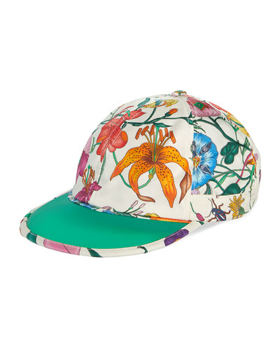 Men s Flora-Print Silk Baseball Hat 529d2c2e7a0c