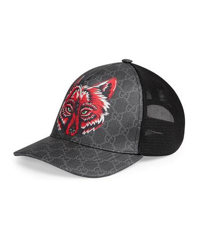 6b13c65a363a6 Men s Wolf Head GG-Supreme Baseball Cap