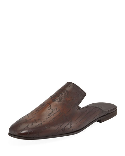 Men's Amazon Scritto Leather Mule Slippers