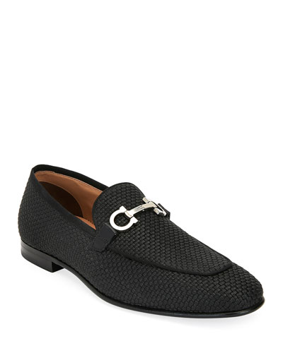 Men's Ascona Woven Leather Loafers