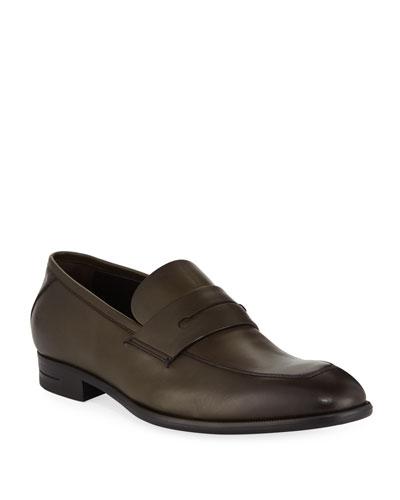 Men's New Flex Penny Calf Military Shoes
