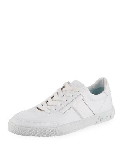 Men's Casetta Leather Low-Top Sneakers