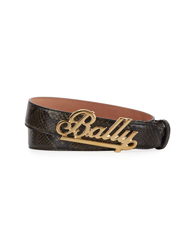 Bally Men's Swoosh Leather Belt