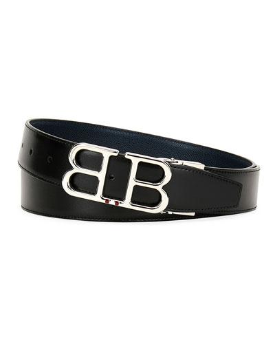 Men's Britt B-Buckle Belt - Chrome Hardware