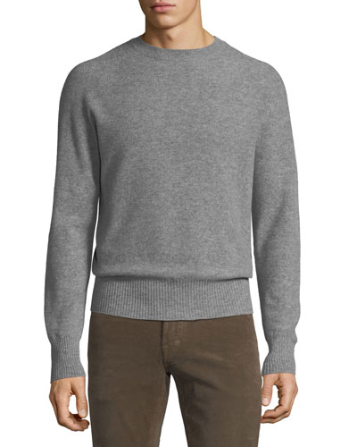 Men's Seamless 12-Gauge Light Cashmere Sweater