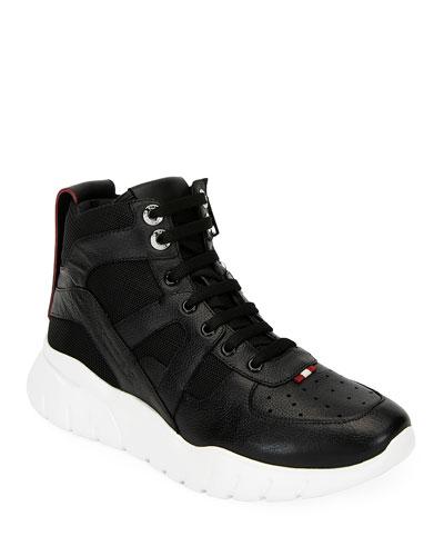 Men's Birko Leather High-Top Sneakers