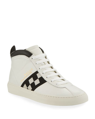 Men's Vita Parcours Retro Lamb Leather High-Top Sneakers