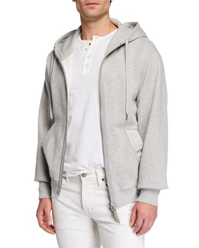 Men's Garment Dyed Hoodie Sweatshirt, Gray