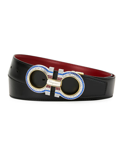 Men's Smooth Gancini Belt