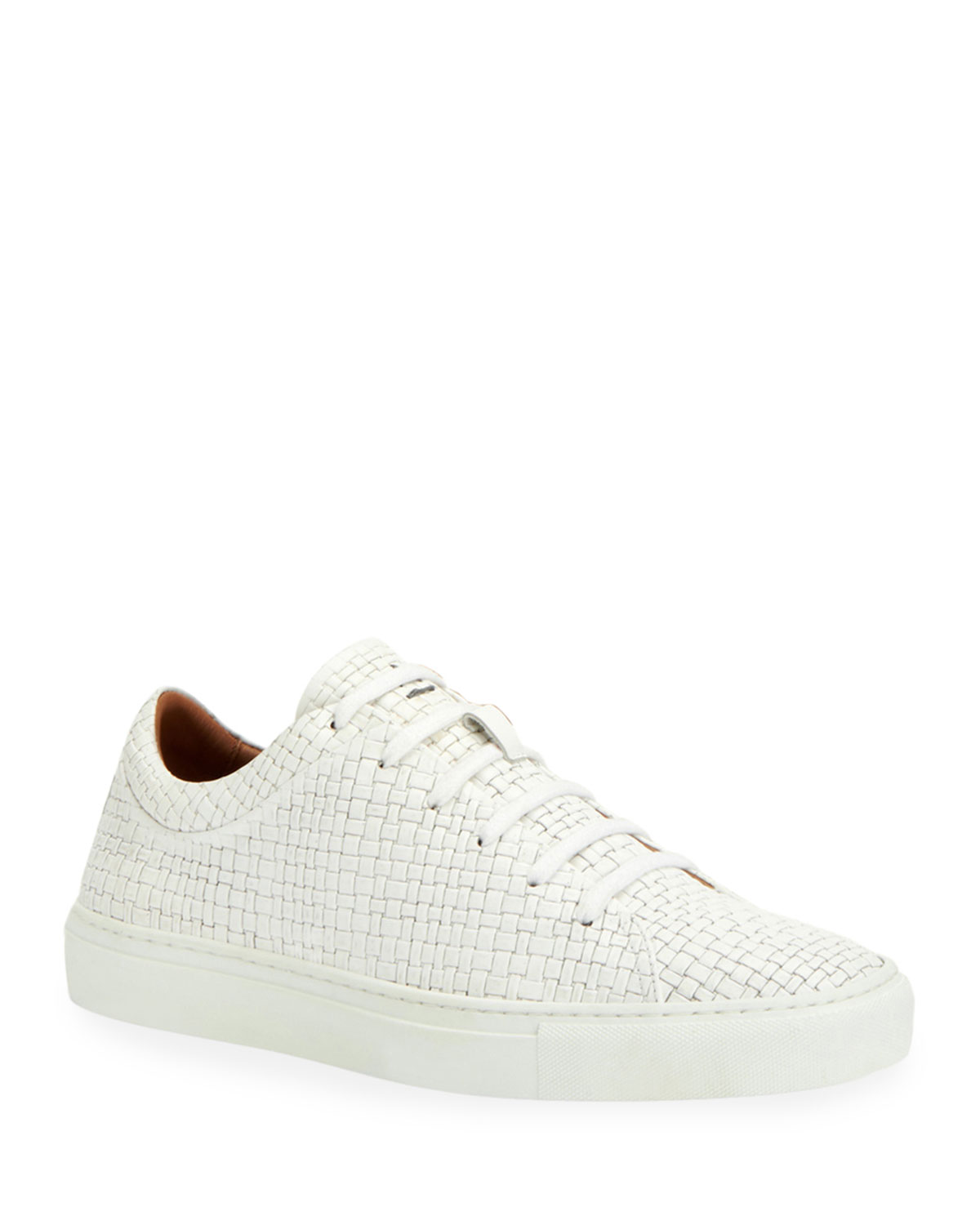 Aquatalia Sneakers MEN'S ALARIC EMBOSSED LEATHER LOW-TOP SNEAKERS