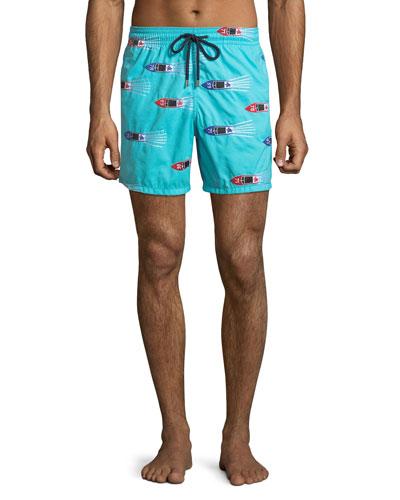 Men's Mistral Graphic Print Swim Trunks