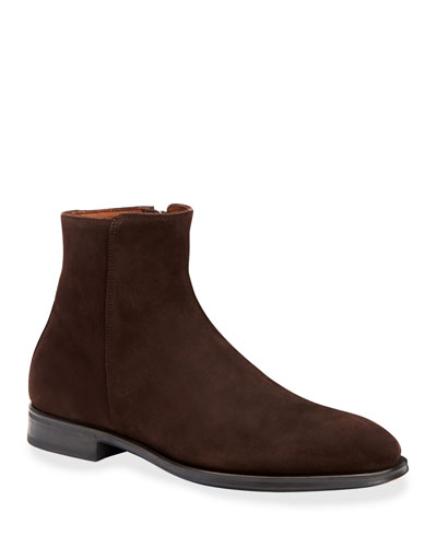 Men's Daniel Waterproof Suede Side-Zip Ankle Boots