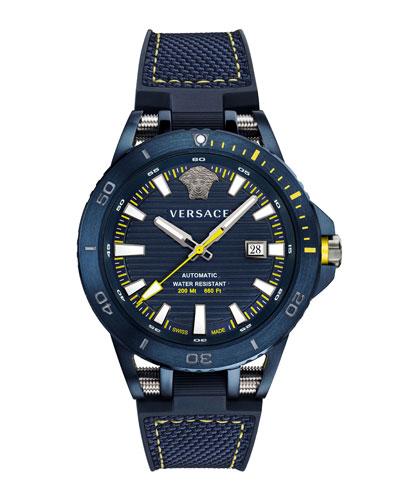 Men's Sport Tech Diver Watch, Blue